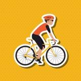 自行车lifesyle设计, edita的平的例证 库存照片