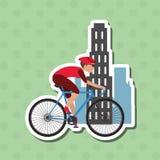 自行车lifesyle设计, edita的平的例证 免版税图库摄影
