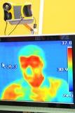 自计温度计照相机 免版税库存图片