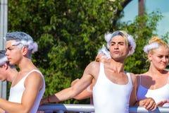 自豪感天(同性恋游行)在布达佩斯,匈牙利 免版税库存图片