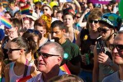 自豪感天(同性恋游行)在布达佩斯,匈牙利 库存图片