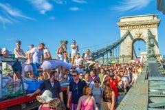 自豪感天(同性恋游行)在布达佩斯,匈牙利 图库摄影