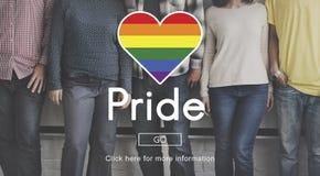 自豪感奇怪快乐变性异性转化同性恋者概念 免版税库存图片