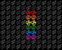 自豪感旗子快乐女同性恋的标志背景 向量例证