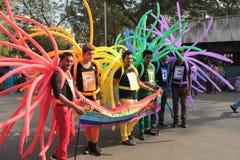 自豪感3月在孟买 免版税图库摄影