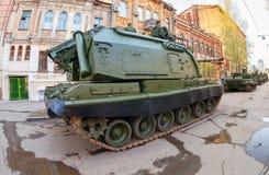 自走短程高射炮Msta- S 库存照片