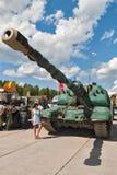 自走152 mm短程高射炮2S19 MSTA-S 库存图片