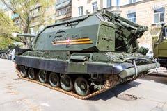 自走152 mm短程高射炮Msta-S 免版税库存图片