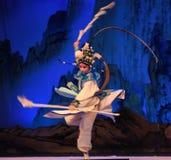 """自转北京Opera""""杨Family†的妇女将军的片刻 免版税库存照片"""