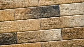 自转棕色装饰无缝的砖家 砖砌背景形象块 向量例证