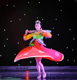 自转---韩国舞蹈 免版税库存照片