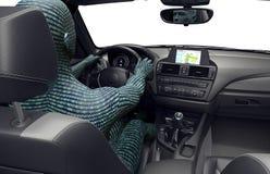 自驾驶的汽车的概念 库存照片