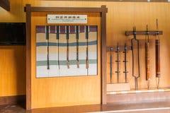 自贡市,四川自贡盐盐博物馆显示倾向为年龄改正,盐溶测试房间和填装洞, 库存照片