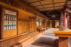 自贡市,四川自贡盐盐博物馆显示倾向为年龄改正,盐溶测试房间和填装洞, 库存图片