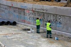 自治市绘画围住伊斯坦布尔gezi公园 免版税库存图片
