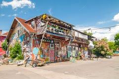 自治文化中心Metelkova,卢布尔雅那,斯洛文尼亚 免版税库存照片
