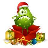 臭虫圣诞节流感存在 免版税库存照片