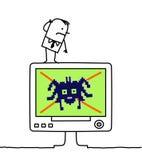 臭虫计算机 图库摄影