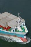 臭虫eines Containerschiffs 库存照片