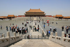 至尊和谐的霍尔-北京-中国 免版税库存图片