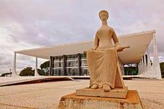 至尊联邦法庭在巴西利亚 库存照片