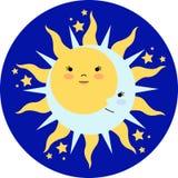 至日太阳 免版税库存照片
