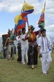 至日,假日印锑秘鲁货币单位Raymi的庆祝 免版税库存照片