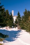 至麦加朝拜过的伊斯兰教徒Dimityr峰顶Buzludzha,在Kazalyk市附近,保加利亚 库存照片