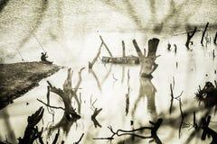 致命的渔 图库摄影