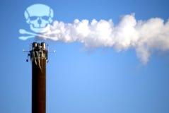 致命的烟 免版税库存图片