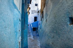 舍夫沙万市蓝色麦地那在摩洛哥,非洲 免版税图库摄影
