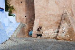 舍夫沙万麦地那,摩洛哥 免版税库存照片