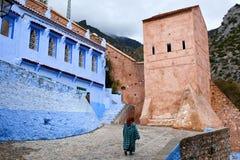 舍夫沙万麦地那,摩洛哥 免版税库存图片