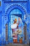 舍夫沙万麦地那,摩洛哥 免版税图库摄影