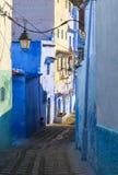 舍夫沙万,摩洛哥麦地那的建筑学  图库摄影