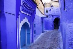 舍夫沙万,蓝色城市 库存图片