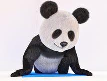 舒展字符蓬松毛皮熊猫的麻线 库存图片