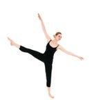舒展年轻人的舞蹈演员女性专业人员 免版税库存图片
