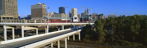 舒展往水牛城的高速公路 图库摄影