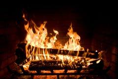 舒适壁炉 免版税库存图片
