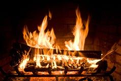 舒适壁炉 库存照片