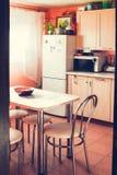舒适家庭厨房关闭 库存照片