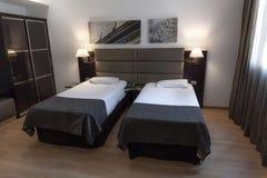 舒适的酒店房间在罗马,意大利,欧洲 库存照片