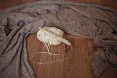 舒适编织,一套圈 库存图片