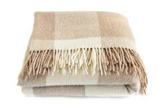 舒适羊魄羊毛毯子 免版税库存图片