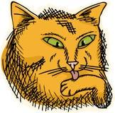 舔爪子的猫 皇族释放例证