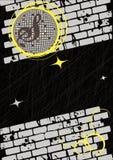 舞会垂直的减速火箭的海报 免版税图库摄影