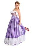 舞会礼服面带笑容妇女 库存图片