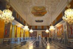 舞厅在宫殿 免版税库存照片