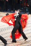 舞厅标准舞蹈演员 库存照片